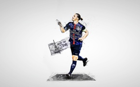 Picture wallpaper, sport, football, player, Paris Saint-Germain, Zlatan Ibrahimovic