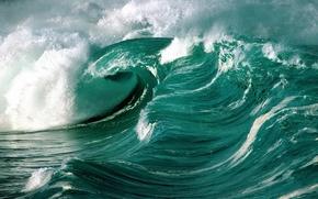 Picture wave, foam, the ocean