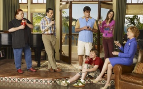 Picture the series, 5 people, two-and-a-half-men, Charlie Sheen