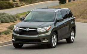 Picture speed, toyota, Toyota, Crossover, highlander