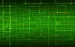 Picture line, green, curves, network