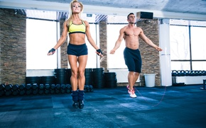 Picture fitness, training, jumping rope