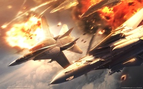 Picture aircraft, ace combat 5, games