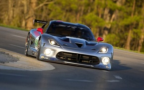 Picture Machine, The hood, Dodge, Lights, Viper, the front, GTS, Viper, SRT, Sports car