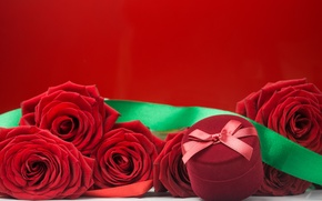 Picture roses, bouquet, red, red, flowers, romantic, box, roses