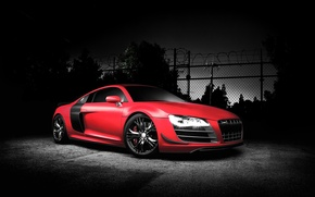 Picture Audi, Audi, tuning, sports car, car, red, autowalls