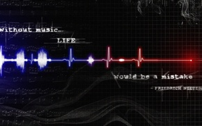 Picture text, life, minimalism, Music, Life, Music, pulse, text, quote, pulse