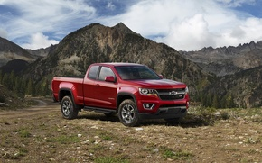 Picture jeep, red, 2015, Colorado, pickup, Chevrolet, Extended Cab, Chevrolet, Z71, Trail Boss, Colorado