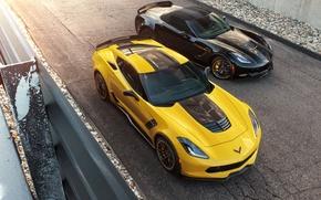 Picture road, Corvette, Chevrolet, track, two