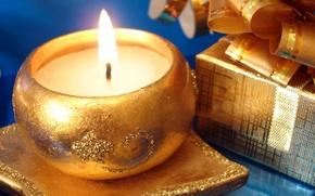 Wallpaper Christmas, new year, holiday, box, candle