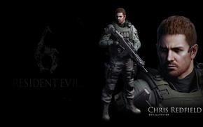 Picture black background, Resident evil, Resident Evil 6, Chris Redfield, Chris Redfield