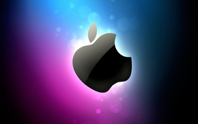 Wallpaper color, Apple, Shine, apple logo