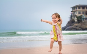 Picture sea, beach, mood, girl