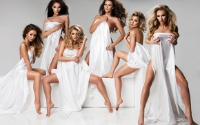 Picture fashion, legs, pose, makeup, ladies, white cloth, covered bodies