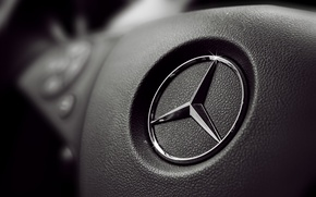Picture sign, black, panel, logo, the wheel, button, Mercedes