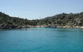 Wallpaper summer, sea, Turkey, yacht