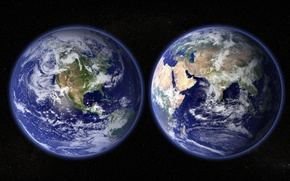 Picture earth, planet, oceans, continents