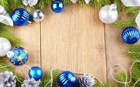 Picture decoration, branches, table, beads, bumps, Christmas decorations