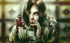 Picture girl, angel, the devil, Christian Suhr