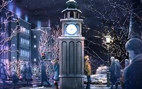 Picture winter, snow, Hatsune Miku, Vocaloid, Miki, Meiko