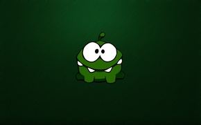 Wallpaper green, toothy, eyed, crank, monster, green, monster, monster, Cut the Rope