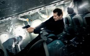 Picture Action, Gun, Wallpaper, Jump, Shooter, Liam Neeson, Man, Movie, Bill, Film, 2014, Films, Plane, Thriller, …