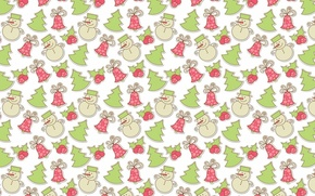 Wallpaper background, holiday, texture, art, New year, snowman, herringbone