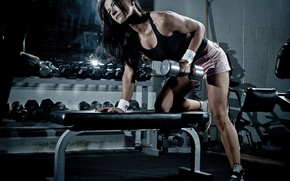 Picture workout, fitness, dumbbell