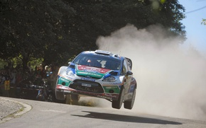 Picture Ford, Dust, Jump, Ford, WRC, Rally, Rally, Fiesta, Fiesta