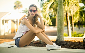 Picture summer, look, model, glasses, legs, cutie, Molly