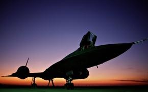 Wallpaper sunset, scout, Blackbird, strategic, UNITED STATES AIR FORCE, Lockheed SR-71, sverhsvetovoy