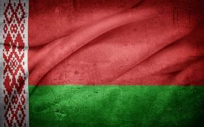 Picture pattern, wave, flag, bending, symbol, ornament, Belarus