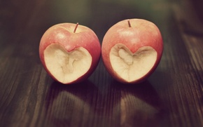 Picture background, situation, red, Wallpaper, mood, heart, Apple, love, heart, wallpapers