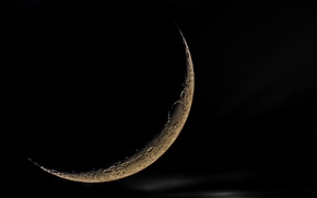 Wallpaper the moon, Moon, night, satellite