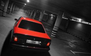 Picture red, BMW, garage, BMW, Parking, Boomer, bmw 5 series, red bmw