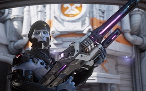 Picture face, weapons, soldiers, takes, necris, unreal tournament, epic games