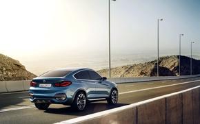Picture Concept, Auto, Road, Blue, BMW, Posts, Machine, Boomer, Asphalt, BMW, Day, Jeep
