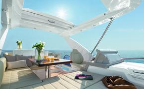 Picture design, style, interior, yacht, deck, Suite, cockpit