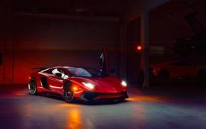 Picture Lamborghini, Front, Aventador, Supercar, Doors, LP 750-4, Superveloce