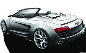 Picture car, machine, Audi, sketch, cabrio