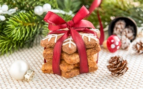 Picture New Year, cookies, Christmas, Christmas, cakes, sweet, Xmas, glaze, cookies, decoration, Merry