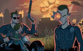 Picture Terminator 2, Arnold Schwarzenegger, Arnold Schwarzenegger, Judgment Day, Terminator 2, Judgment day, Edward Furlong, Robert ...