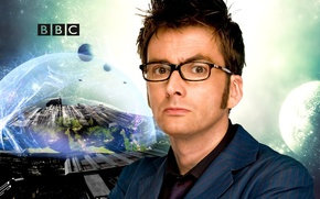 Picture look, space, stars, space, fiction, planet, glasses, costume, actor, male, Doctor Who, Doctor Who, BBC, ...