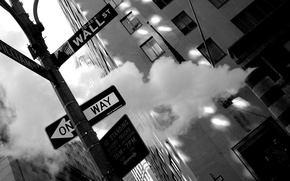 Picture New York, black and white, City, picture, background, Manhattan, New York, Wallpaper, the city, street, ...
