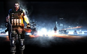 Picture weapons, machine, Battlefield 3, Resident Evil 6, Chris Redfield
