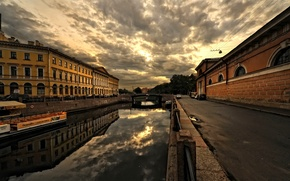 Wallpaper the city, street, home, architecture, bridge, buildings, Saint Petersburg