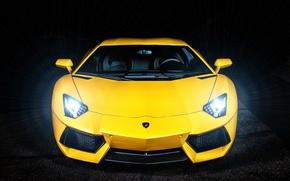 Picture Lamborghini, Lamborghini, Blik, yellow, yellow, Lamborghini, LP700-4, Aventador, Aventador, LB834