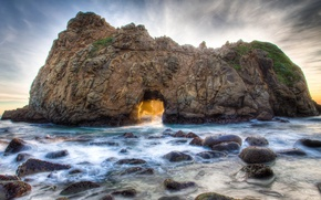 Picture sea, rock, stones, arch