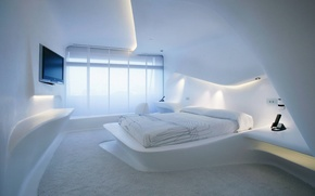 Picture room, bed, interior, TV