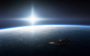 Picture space, ship, In orbit